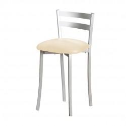 Taburete aluminio con asiento polipiel SIERO