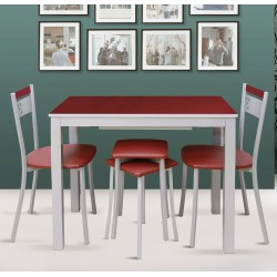 Mesa de cocina extensible frontal modelo Javea