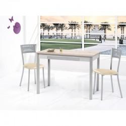 Conjunto de mesa de cocina fija mas sillas tapizadas