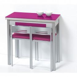 Conjunto de mesa de cocina tipo libro más sillas a juego