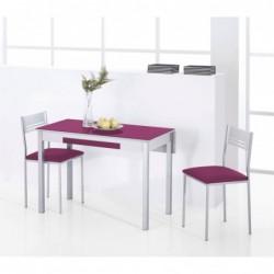 Conjunto de Mesa Cocina ala extensible trasera con sillas a juego