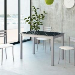 Pack Mesa de cocina extensible arrastre más sillas y taburetes