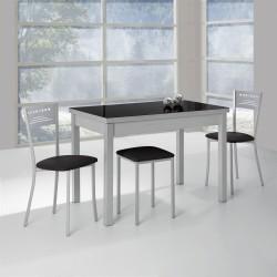 Conjunto de mesa, sillas y taburetes extensibles Mérida
