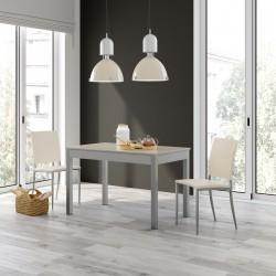 Conjunto mesa extensible y sillas tapizadas de cocina