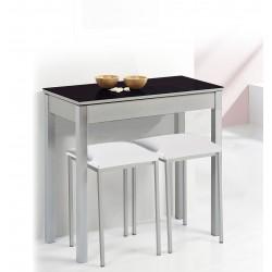 Conjunto mesa fija y taburetes para cocinas pequeñas