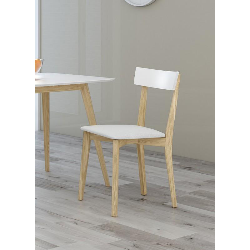 Silla de cocina madera barnizada/tapizada modelo Palma