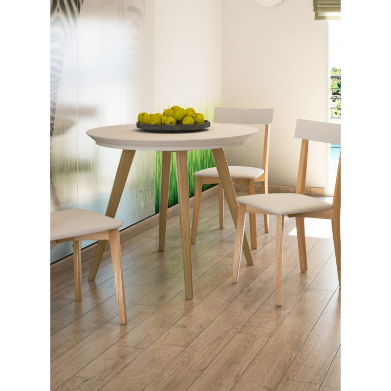 Mesa de cocina redonda extensible Loja